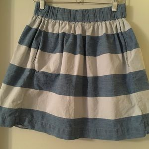 Gap striped cotton skirt (with pockets!!)
